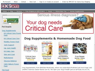 Shop at k9criticalcare.com