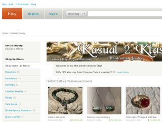 Shop at kasual2klassy.etsy.com
