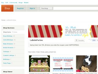 Shop at labelleparties.etsy.com