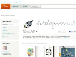 Shop at littlegreenshedshop.etsy.com