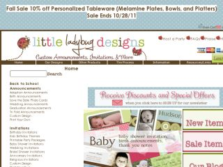 Shop at littleladybugdesigns.com