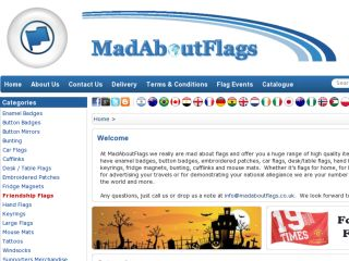 Shop at madaboutflags.co.uk