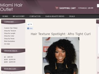 Shop at miamihairoutlet.com