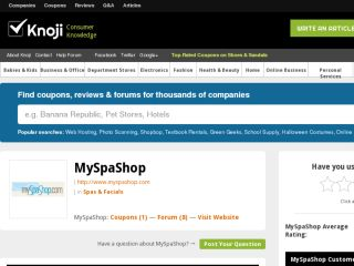 Shop at myspashop.knoji.com