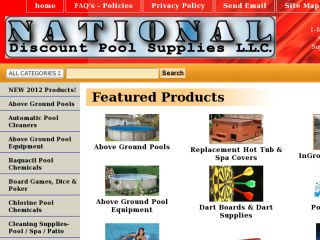 Shop at nationaldiscountpoolsupplies.com