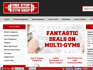 Shop at onestopgymshop.co.uk