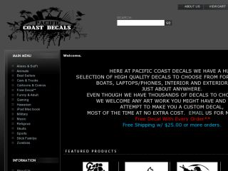 Shop at pacificcoastdecals.com