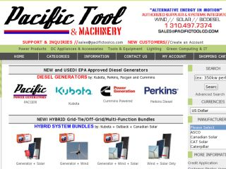 Shop at pacifictoolcompany.com