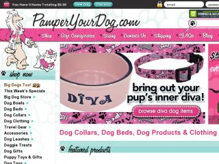 Shop at pamperyourdog.com