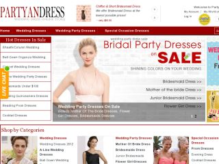 Partyandress.com Coupon Codes 2012  - Latest promo codes for Partyandress