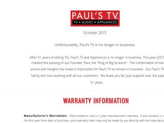 Shop at paulstv.com