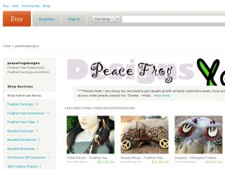 Shop at peacefrogdesigns.etsy.com