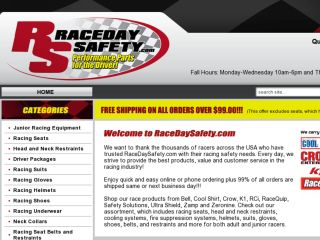 Shop at racedaysafety.com
