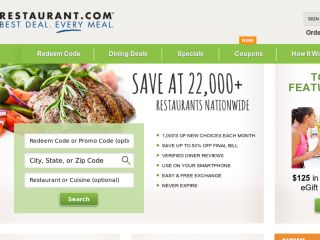 Shop at restaurant.com