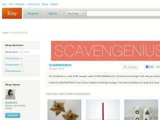 Shop at scavengenius.etsy.com