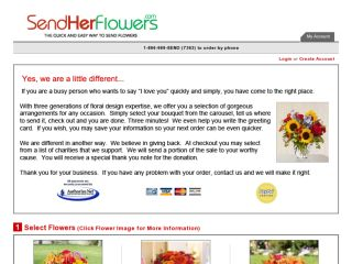 Shop at sendherflowers.com
