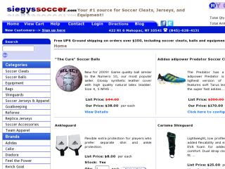 Shop at siegyssoccer.com