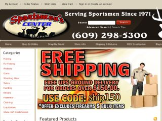 Shop at sportsmenscenter.com