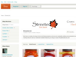 Shop at streeterltd.etsy.com