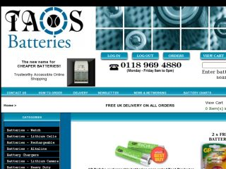 Shop at taosbatteries.co.uk