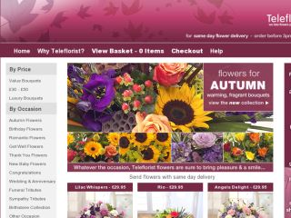 Shop at teleflorist.co.uk