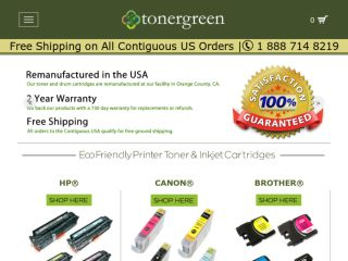 Shop at tonergreen.com