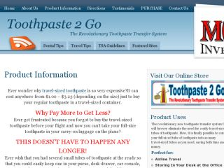 Shop at toothpaste2go.com