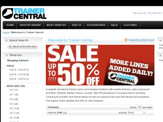 Shop at trainercentral.co.uk