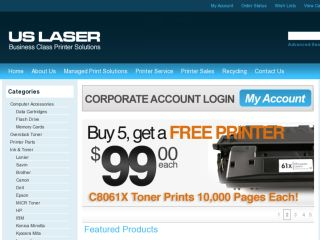 Shop at uslaserinc.com