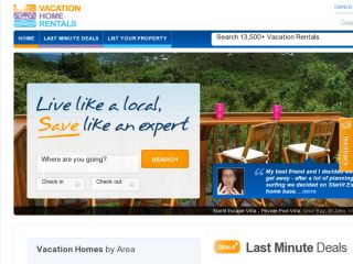 Shop at vacationhomerentals.com