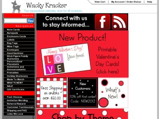 Shop at wackykracker.com