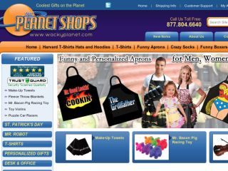 Shop at wackyplanet.com