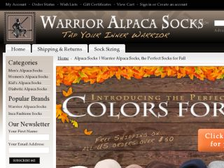 Shop at warrioralpacasocks.com
