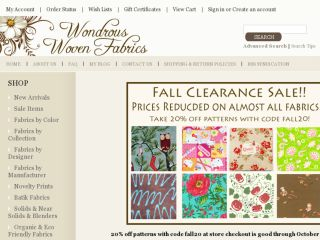 Shop at wondrouswovenfabrics.com