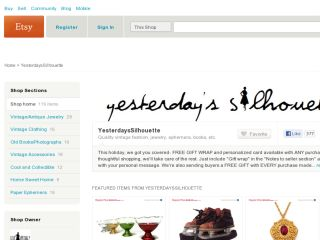 Shop at yesterdayssilhouette.etsy.com