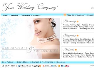 Shop at yourweddingcompany.com