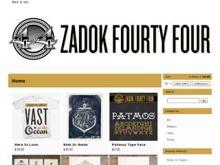 Shop at zadok44.bigcartel.com