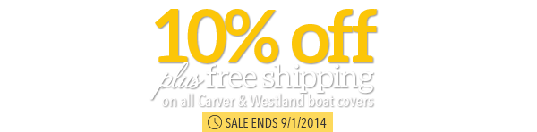 10% off + free shipping on Carver and Westland Boat Covers