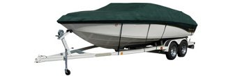 Boat with Green Exact Fit Westland Boat Cover