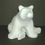 Bear - Stylized - Souvenir Size & Table Top Sitting | Fiberglass Animal