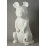 Rat - Large Sitting | Fiberglass Animal