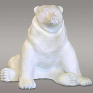 Bear - Brown - Large Sitting | Fiberglass Animal