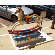 Hobby Horse on Toy Box | Fiberglass Animal