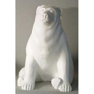 Bear - Brown - Midsize Sitting | Fiberglass Animal