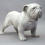 Dog - Bulldog - Table Top & Souvenir Size  | Fiberglass Animal