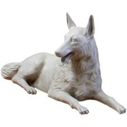 Dog - German Shepherd - Reclining | Fiberglass Animal