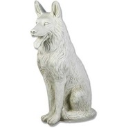 Dog - German Shepherd - Sitting | Fiberglass Animal