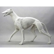 Dog - Greyhound - Walking | Fiberglass Animal