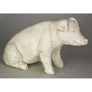 Pig - Table Top Sitting | Fiberglass Animal