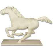 Horse - Midsize Galloping on Base | Fiberglass Animal